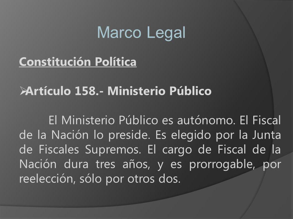 Marco Legal Constitución Política Artículo 158.- Ministerio Público