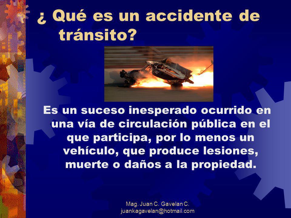 ¿ Qué es un accidente de tránsito