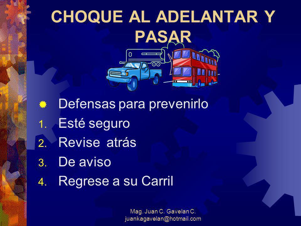 CHOQUE AL ADELANTAR Y PASAR