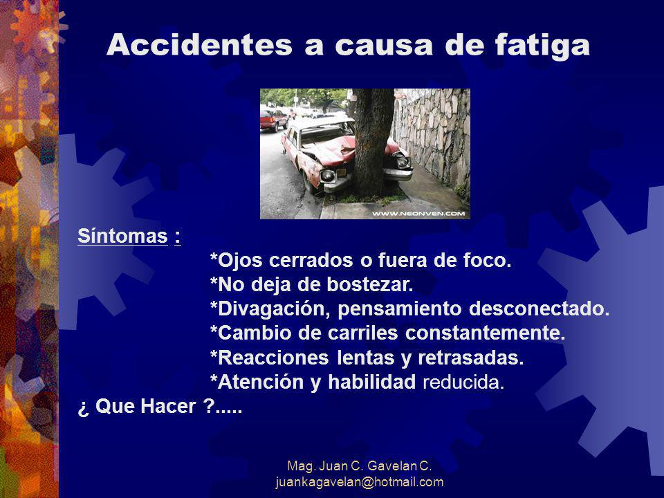 Accidentes a causa de fatiga