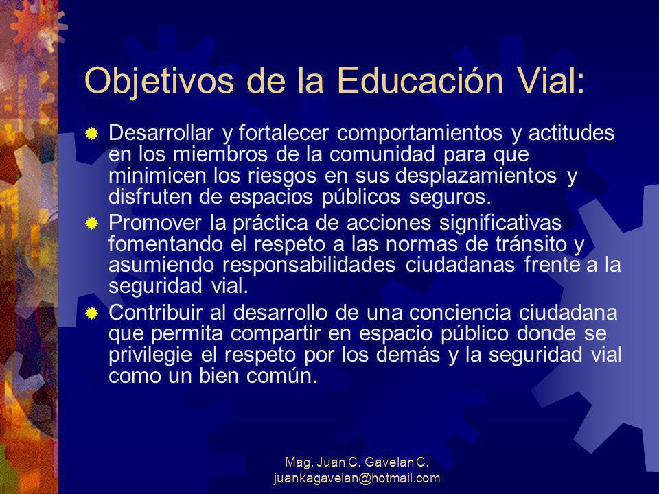 Objetivos de la Educación Vial: