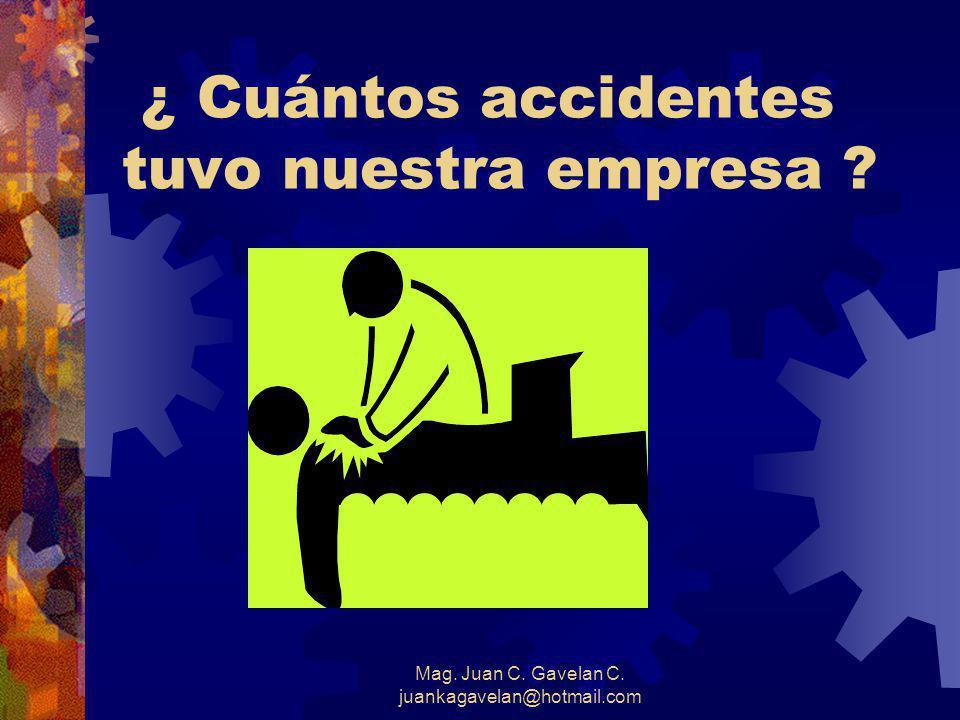 ¿ Cuántos accidentes tuvo nuestra empresa