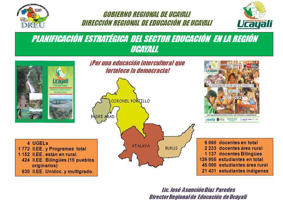 PLANIFICACIÓN ESTRATÉGICA DEL SECTOR EDUCACIÓN EN LA REGIÓN UCAYALI.