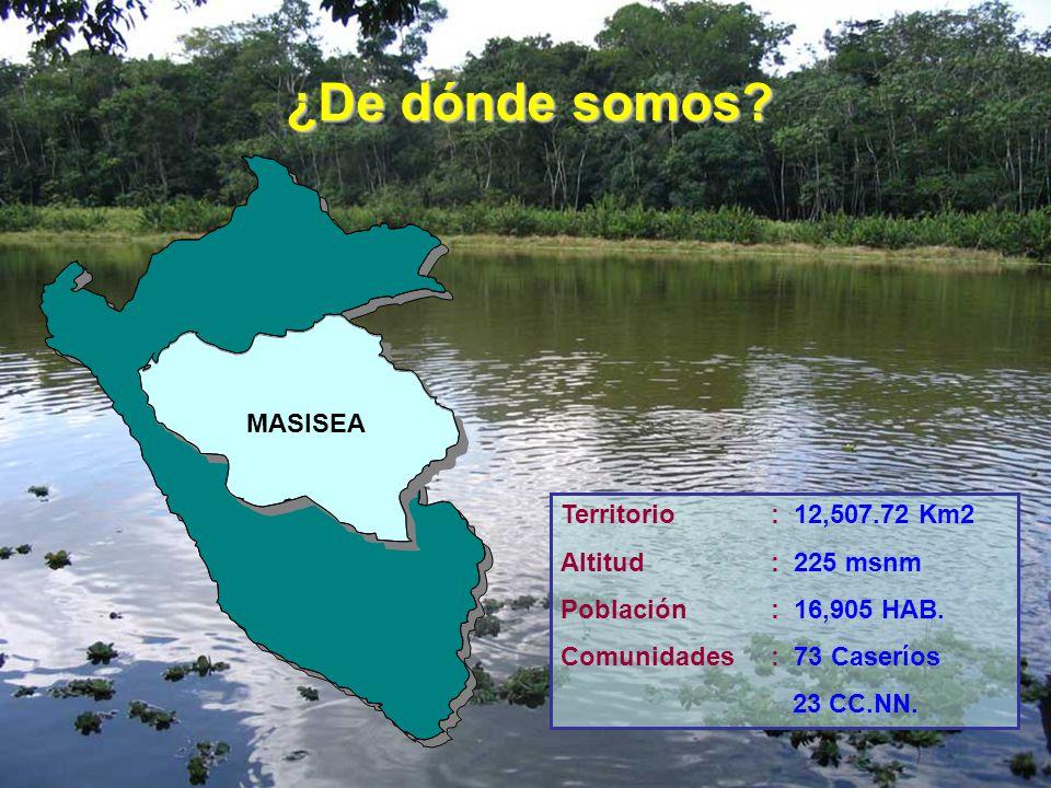 ¿De dónde somos MASISEA Territorio : 12,507.72 Km2 Altitud : 225 msnm