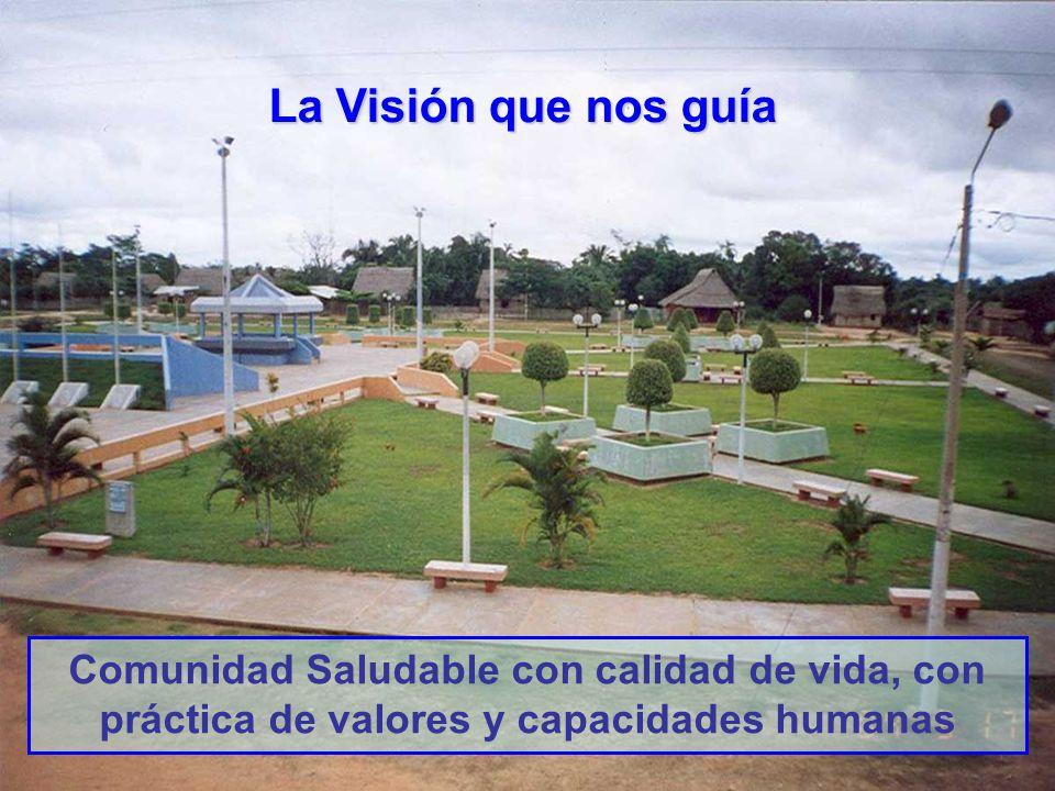 La Visión que nos guía Comunidad Saludable con calidad de vida, con práctica de valores y capacidades humanas.
