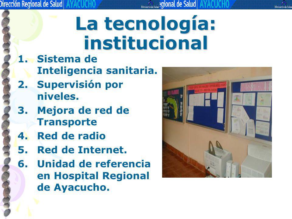 La tecnología: institucional