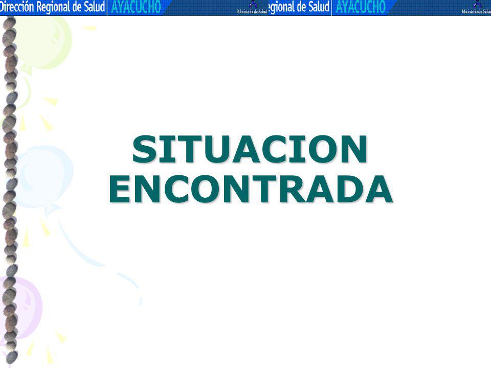 SITUACION ENCONTRADA