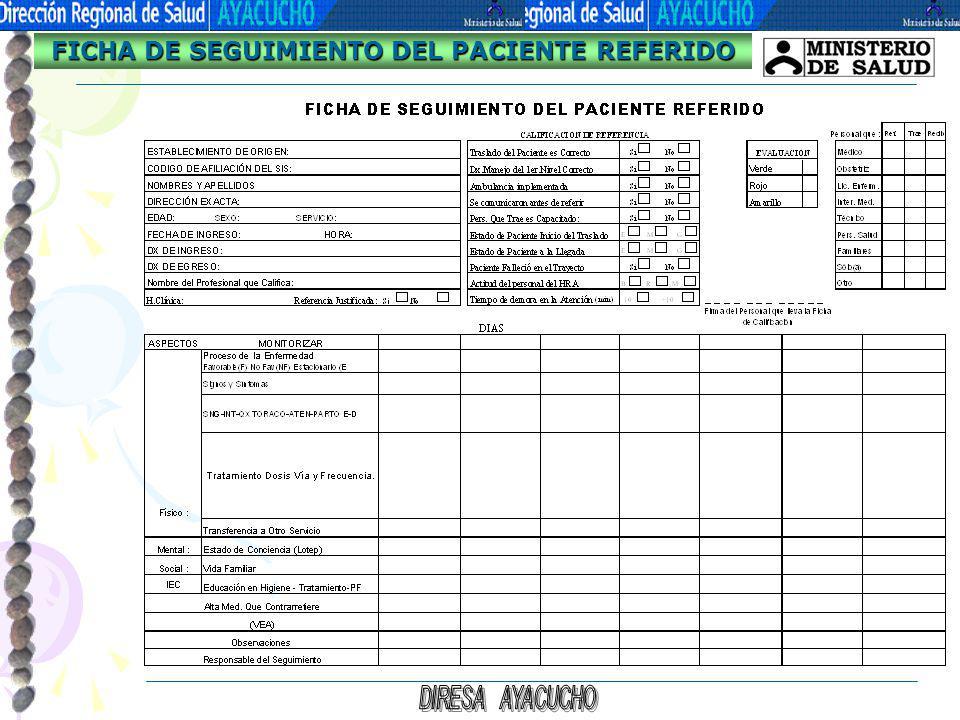 FICHA DE SEGUIMIENTO DEL PACIENTE REFERIDO