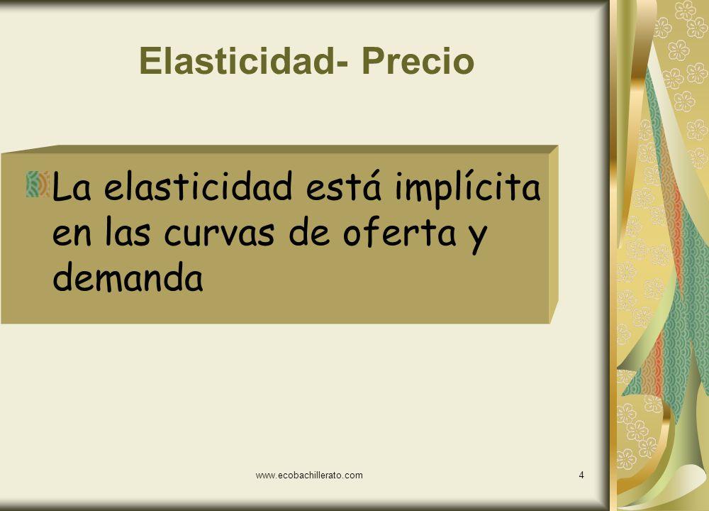 La elasticidad está implícita en las curvas de oferta y demanda