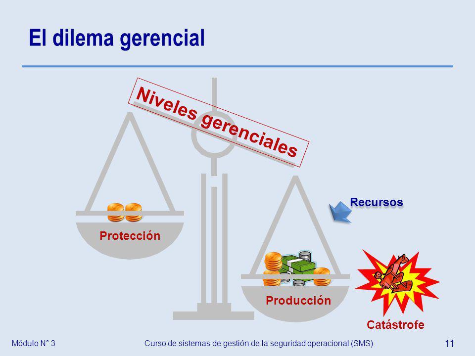 El dilema gerencial Niveles gerenciales Recursos Protección Producción