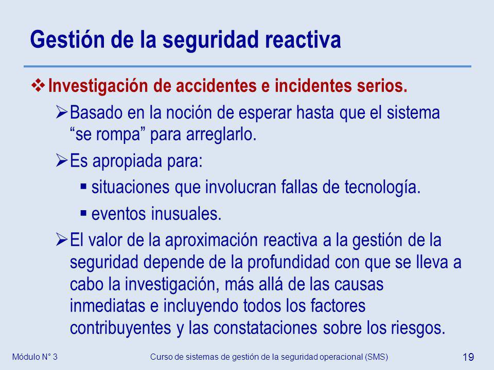 Gestión de la seguridad reactiva