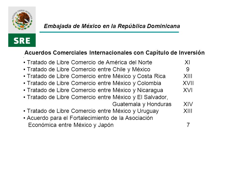 Acuerdos Comerciales Internacionales con Capítulo de Inversión