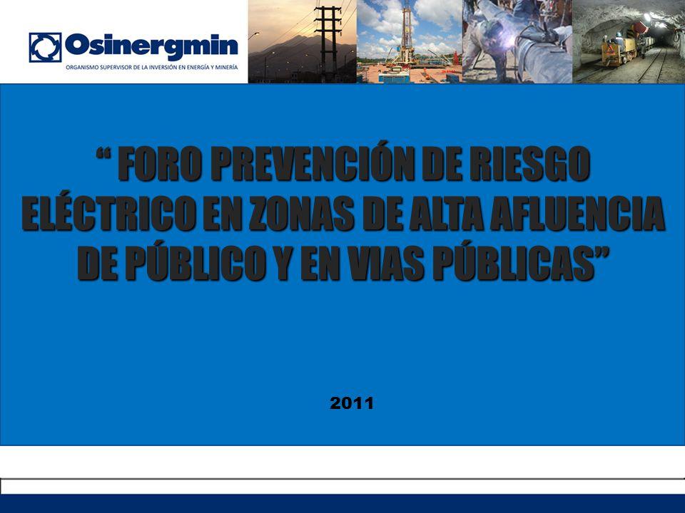 FORO PREVENCIÓN DE RIESGO ELÉCTRICO EN ZONAS DE ALTA AFLUENCIA DE PÚBLICO Y EN VIAS PÚBLICAS