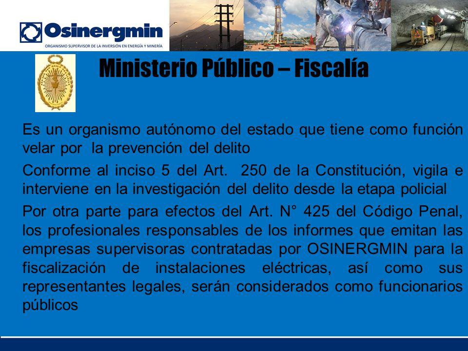 Ministerio Público – Fiscalía