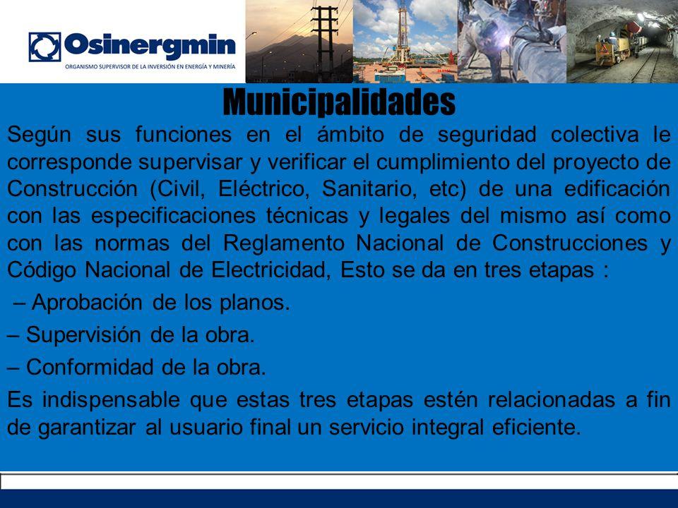 Municipalidades Municipalidades