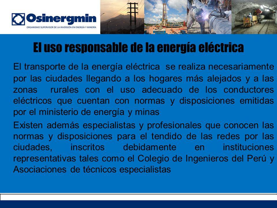 El uso responsable de la energía eléctrica