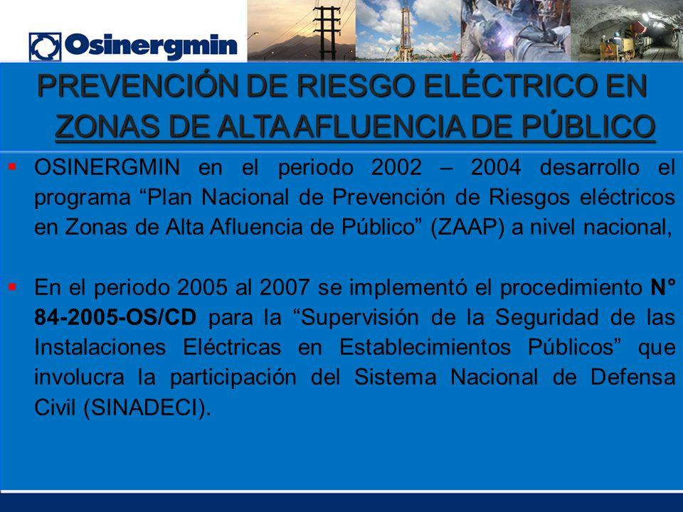 PREVENCIÓN DE RIESGO ELÉCTRICO EN ZONAS DE ALTA AFLUENCIA DE PÚBLICO