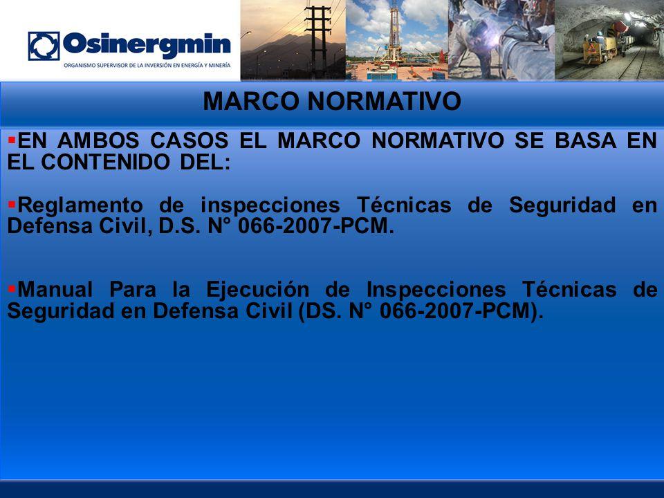 MARCO NORMATIVO EN AMBOS CASOS EL MARCO NORMATIVO SE BASA EN EL CONTENIDO DEL: