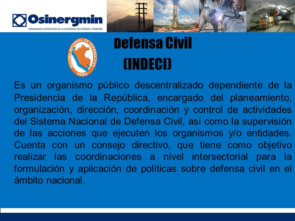 (INDECI) Defensa Civil