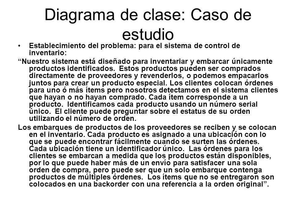 Diagrama de clase: Caso de estudio