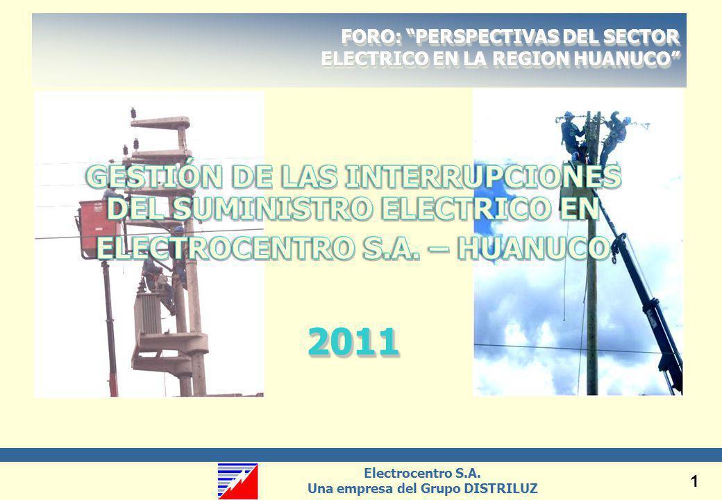 2011 GESTIÓN DE LAS INTERRUPCIONES DEL SUMINISTRO ELECTRICO EN