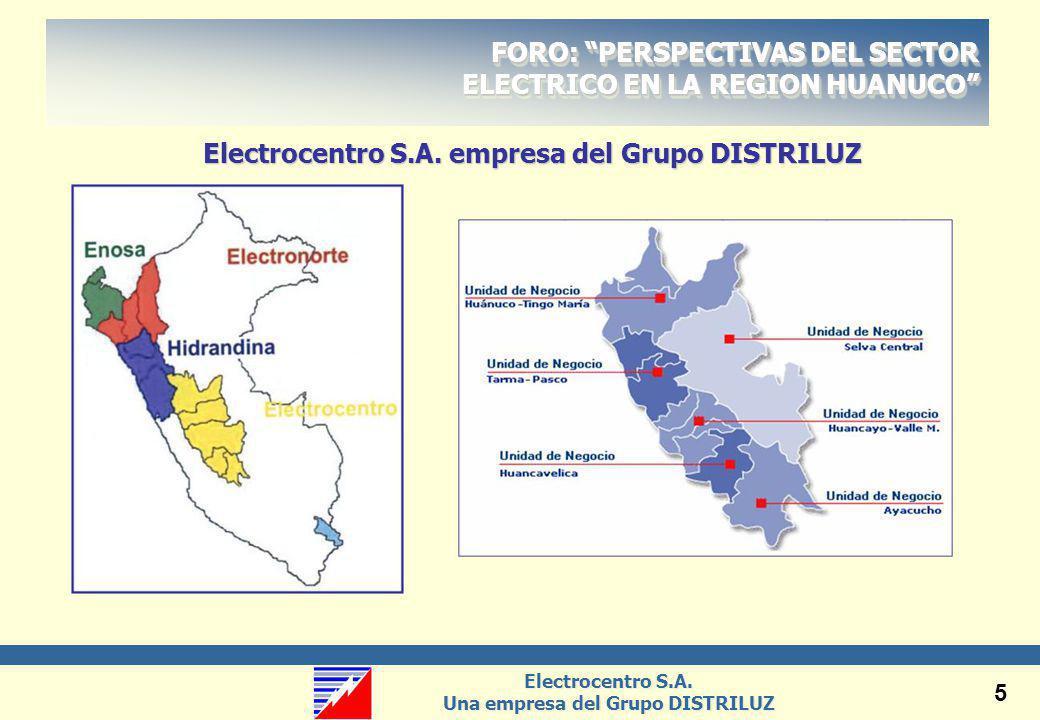 Electrocentro S.A. empresa del Grupo DISTRILUZ