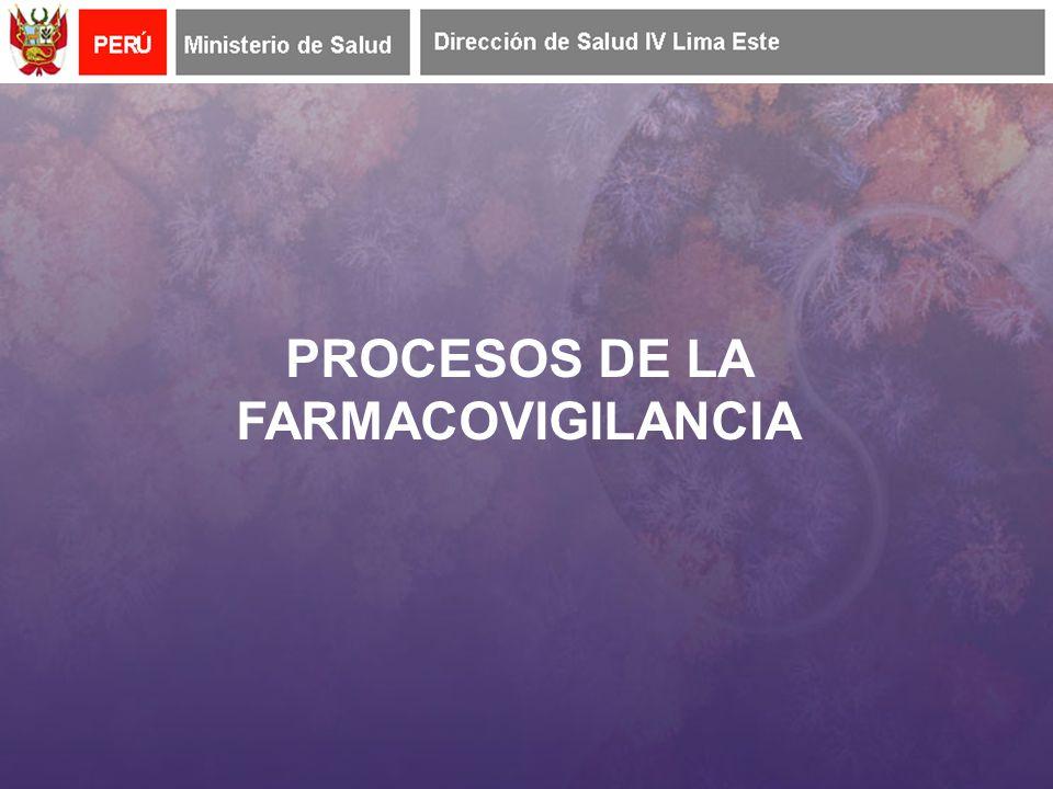 PROCESOS DE LA FARMACOVIGILANCIA