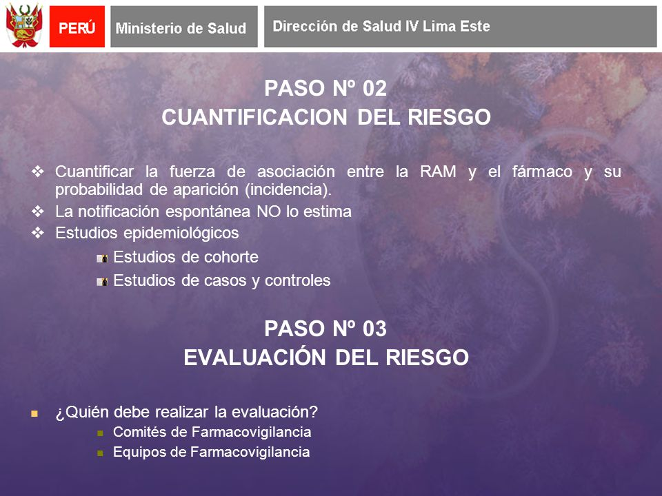 CUANTIFICACION DEL RIESGO