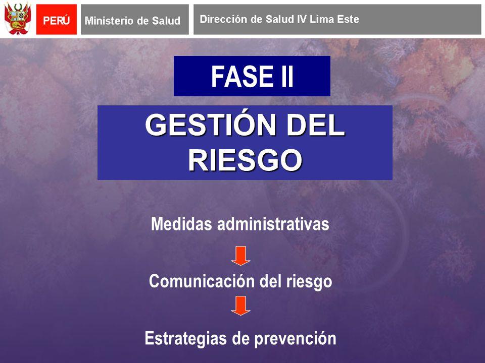 FASE II GESTIÓN DEL RIESGO Medidas administrativas