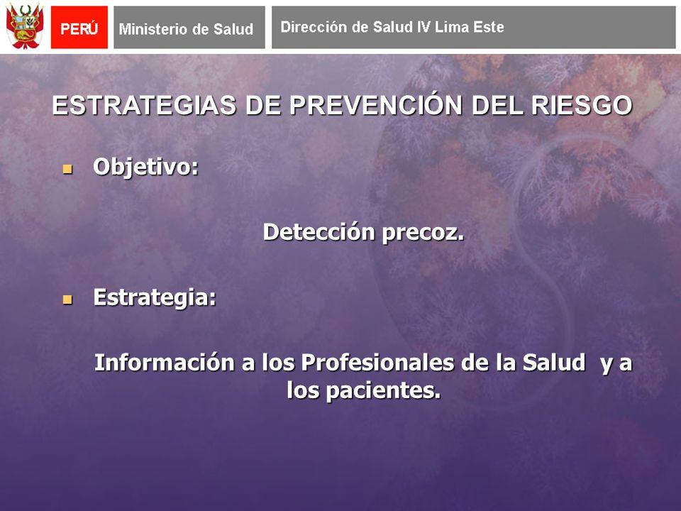 ESTRATEGIAS DE PREVENCIÓN DEL RIESGO