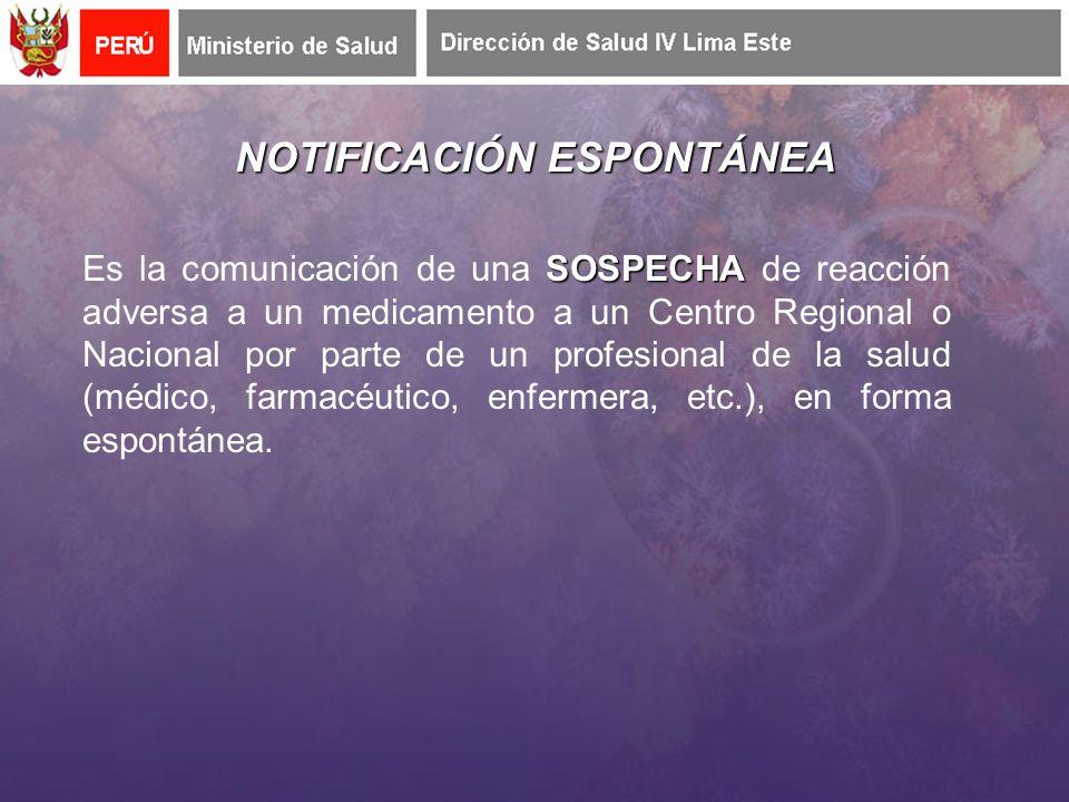 NOTIFICACIÓN ESPONTÁNEA