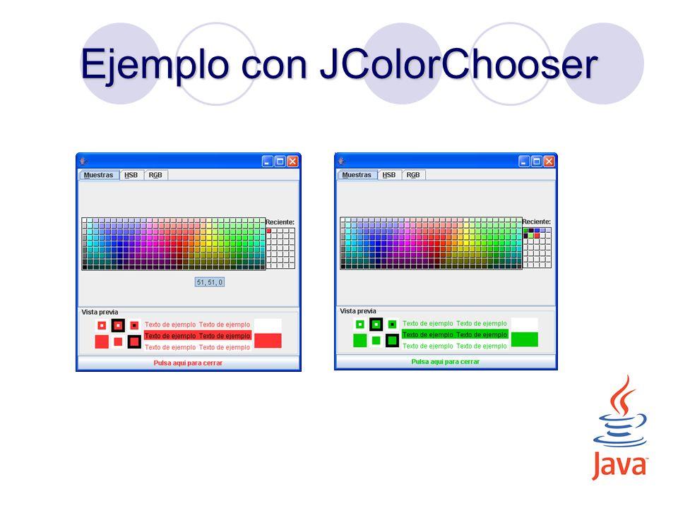 Ejemplo con JColorChooser