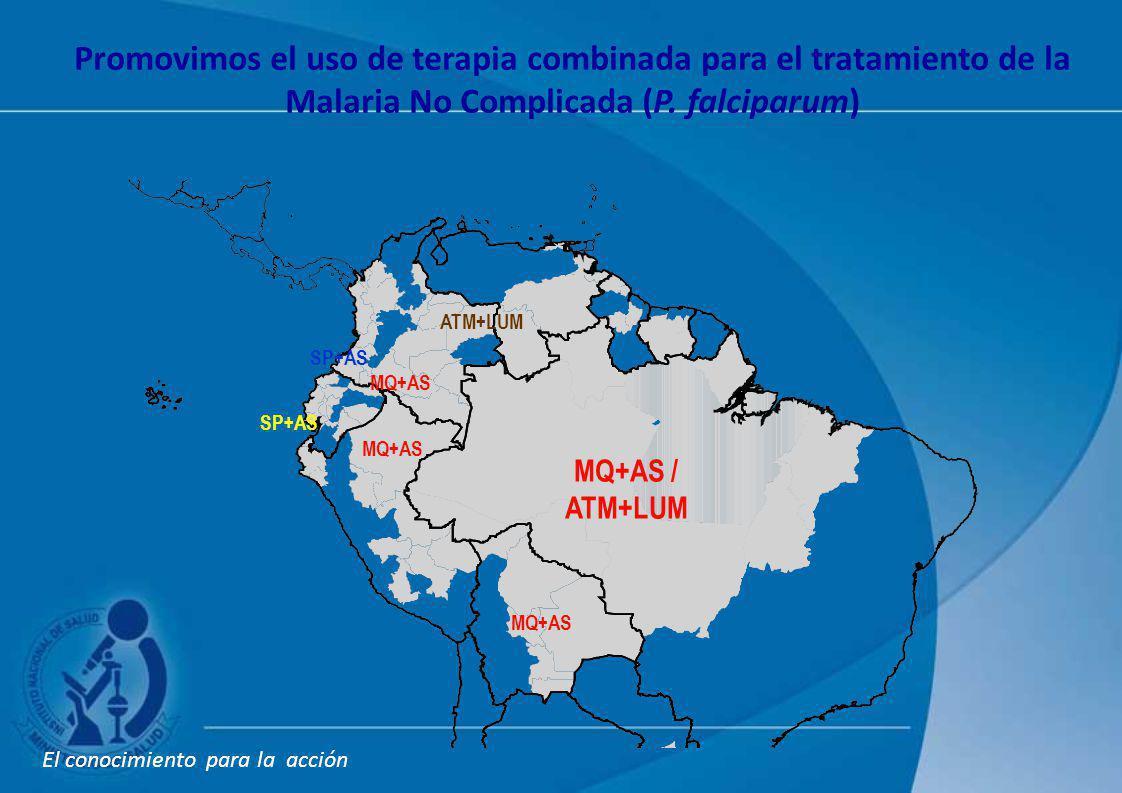 Promovimos el uso de terapia combinada para el tratamiento de la Malaria No Complicada (P. falciparum)
