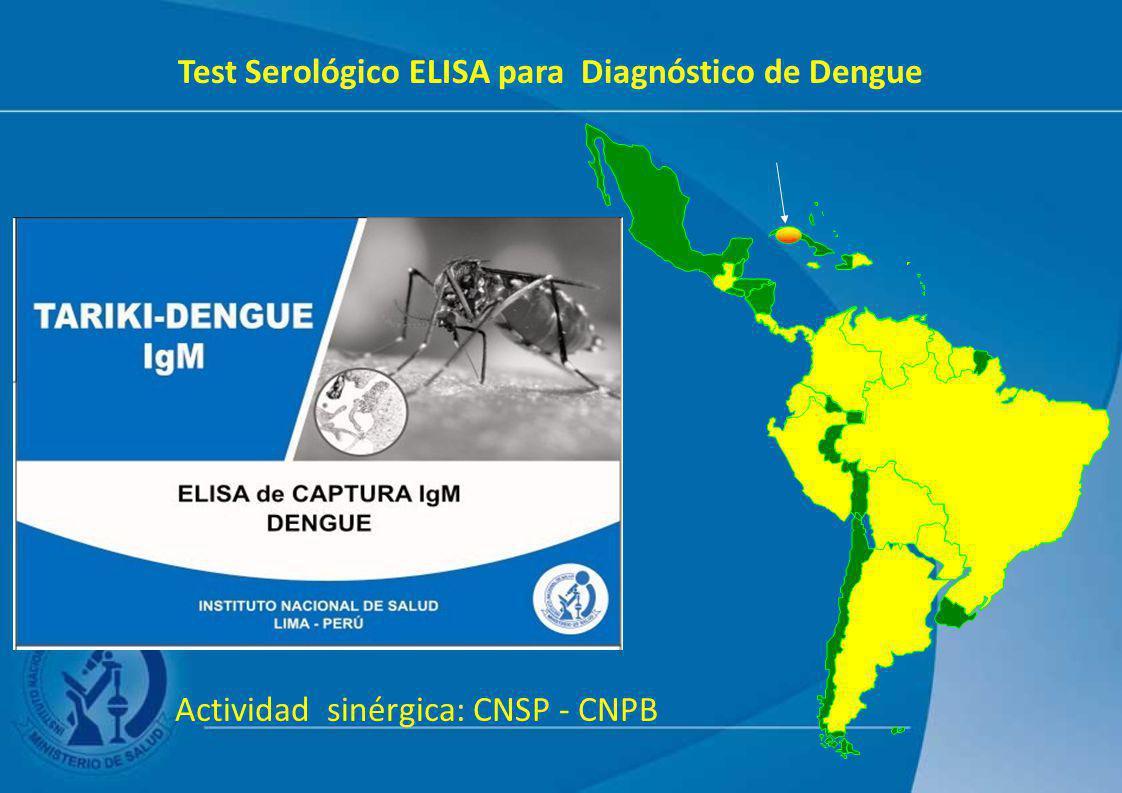 Test Serológico ELISA para Diagnóstico de Dengue