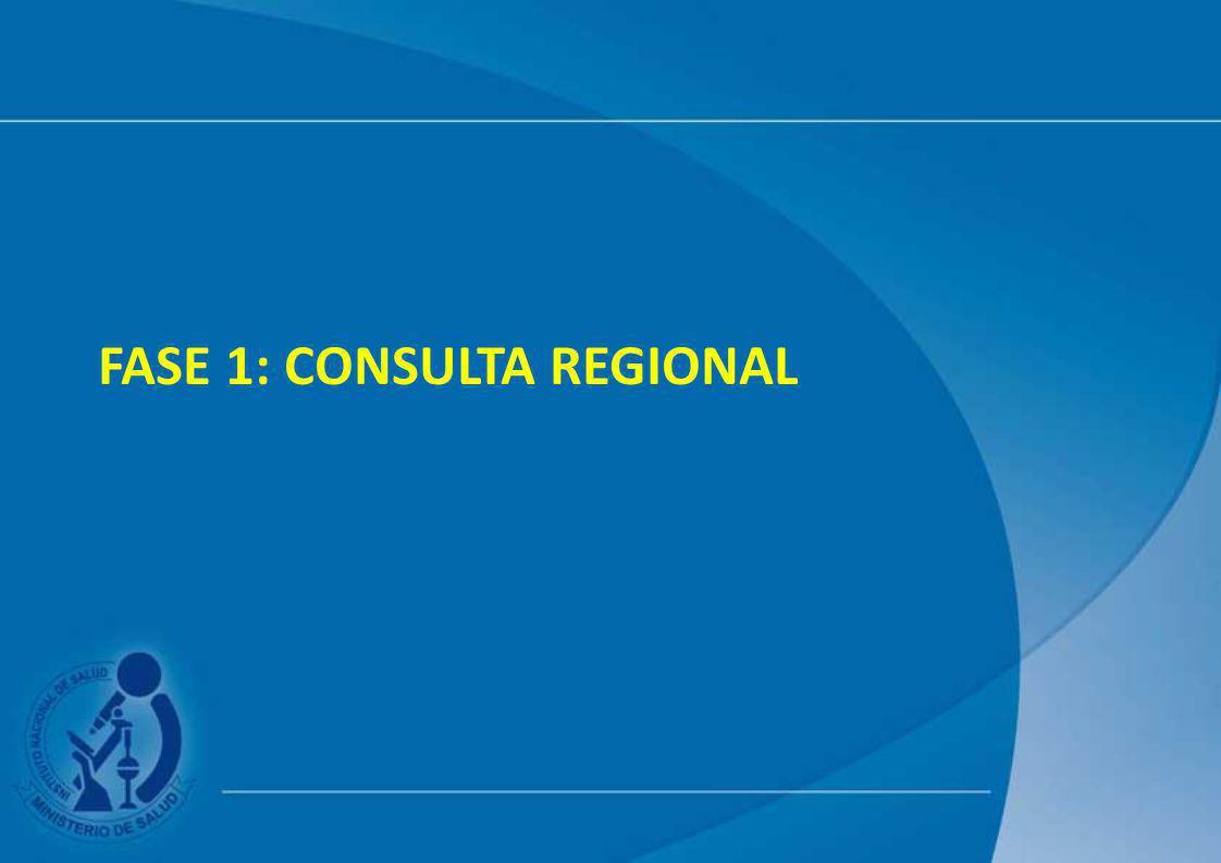 FASE 1: CONSULTA REGIONAL