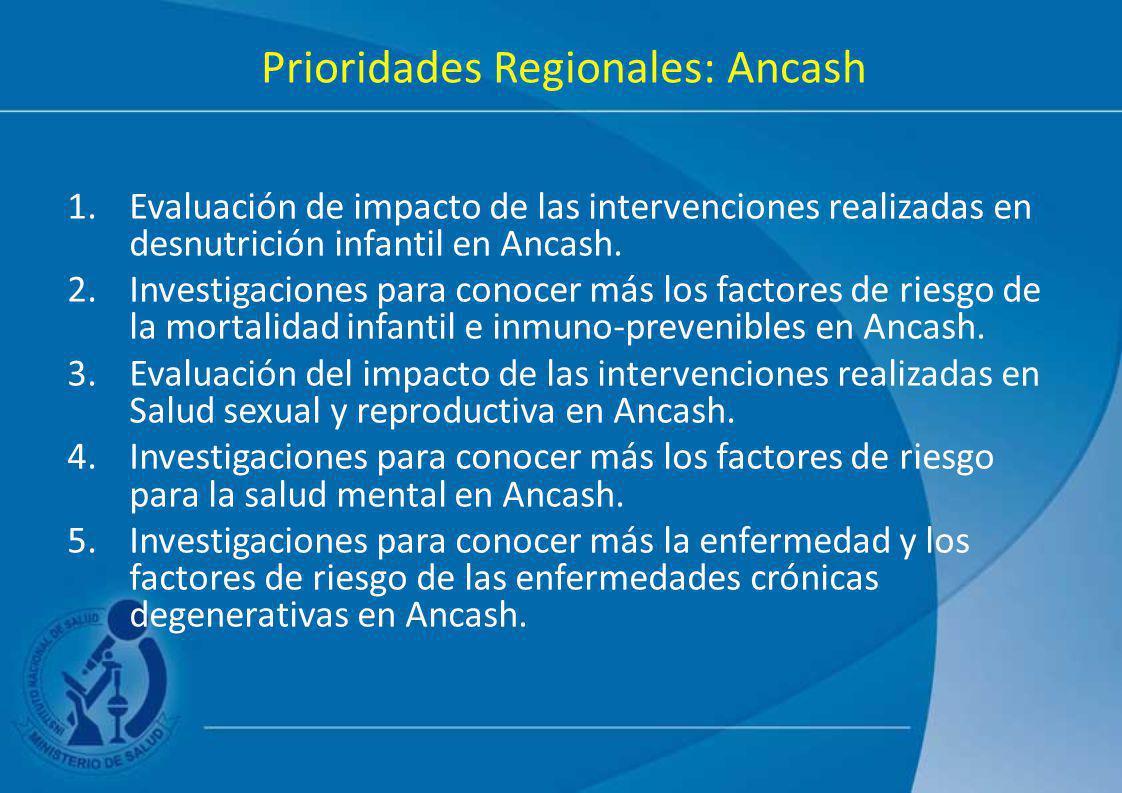 Prioridades Regionales: Ancash
