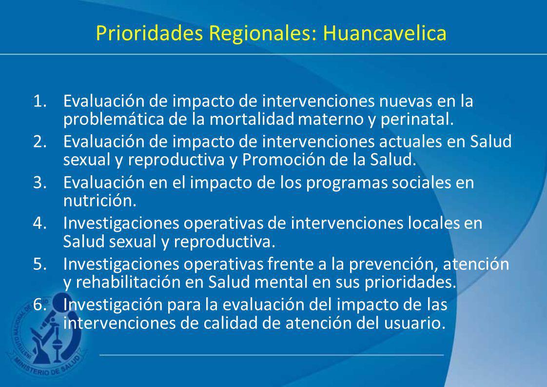 Prioridades Regionales: Huancavelica