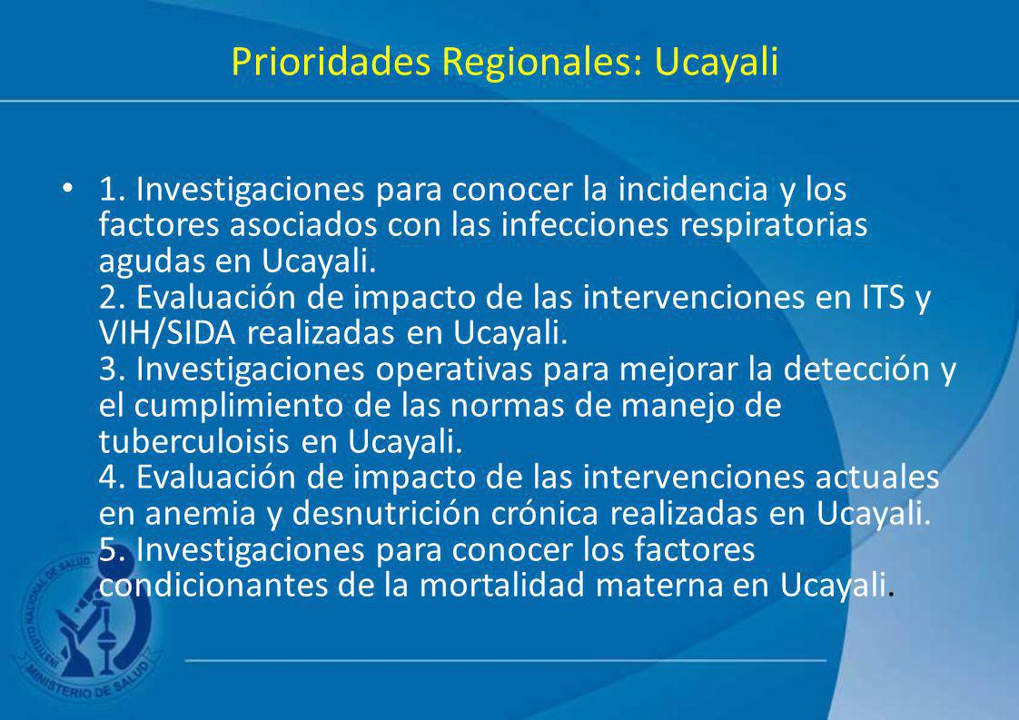 Prioridades Regionales: Ucayali