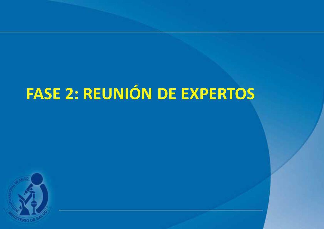 Fase 2: reunión de expertos