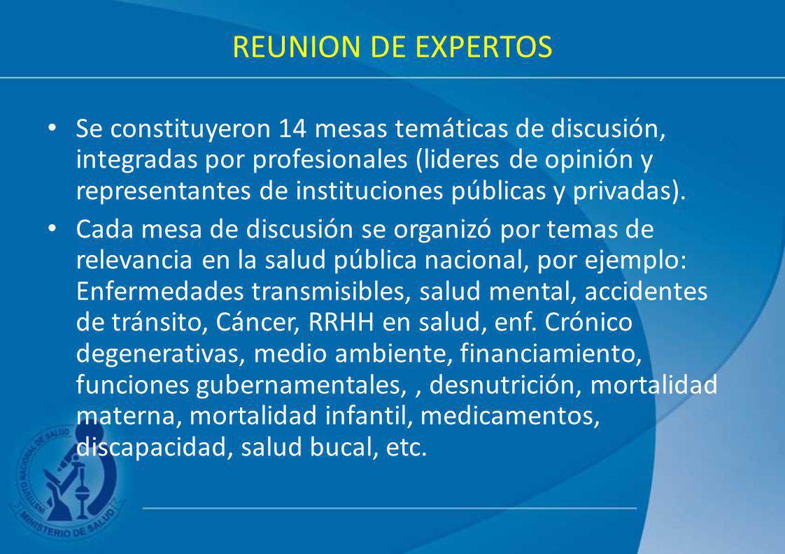 REUNION DE EXPERTOS