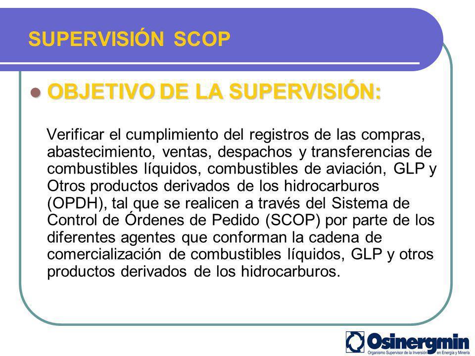 OBJETIVO DE LA SUPERVISIÓN: