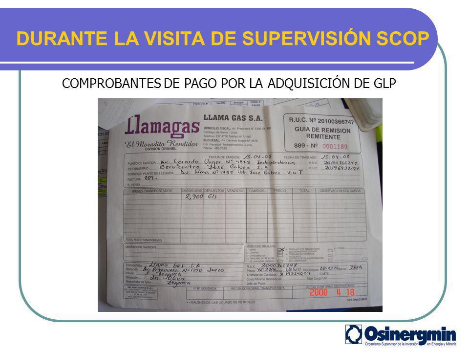 DURANTE LA VISITA DE SUPERVISIÓN SCOP
