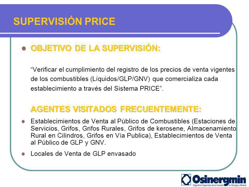 SUPERVISIÓN PRICE OBJETIVO DE LA SUPERVISIÓN: