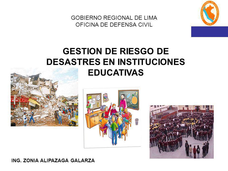 GOBIERNO REGIONAL DE LIMA OFICINA DE DEFENSA CIVIL