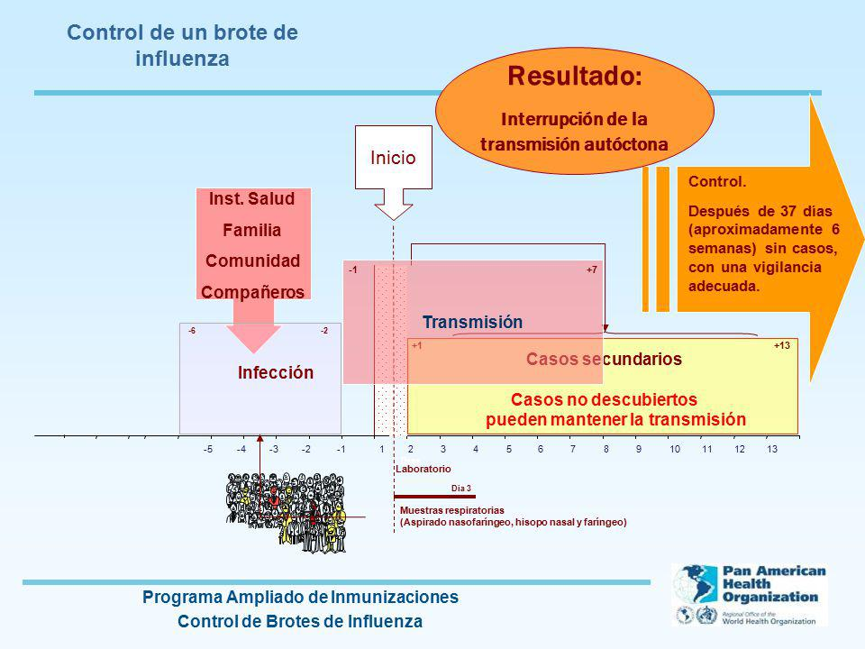 Control de un brote de influenza