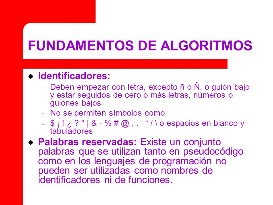 FUNDAMENTOS DE ALGORITMOS