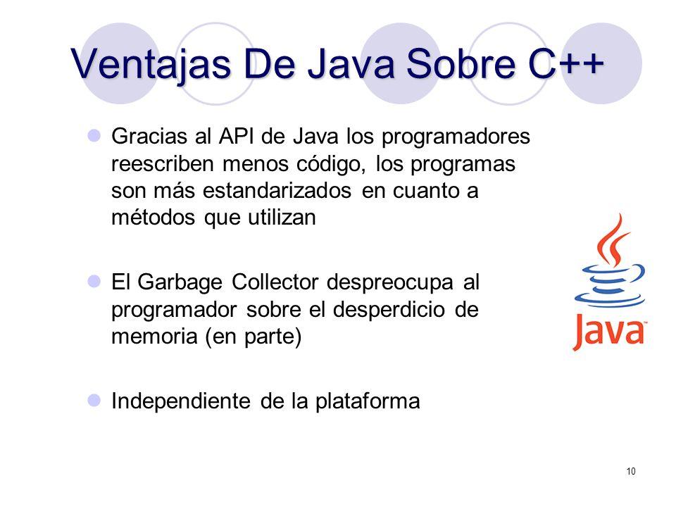 Ventajas De Java Sobre C++