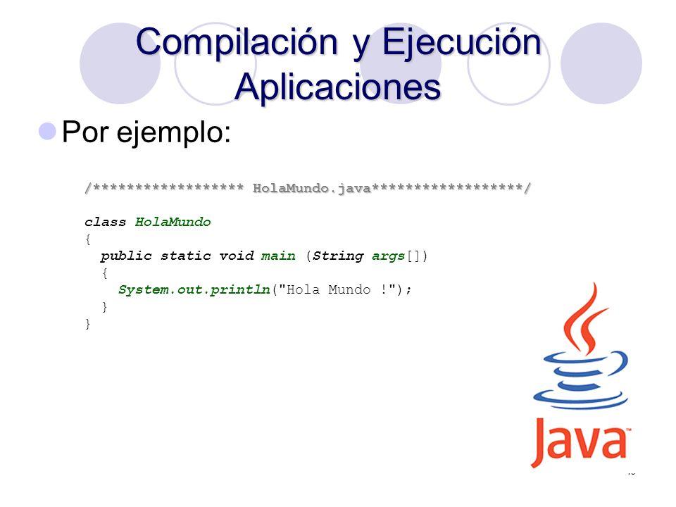 Compilación y Ejecución Aplicaciones