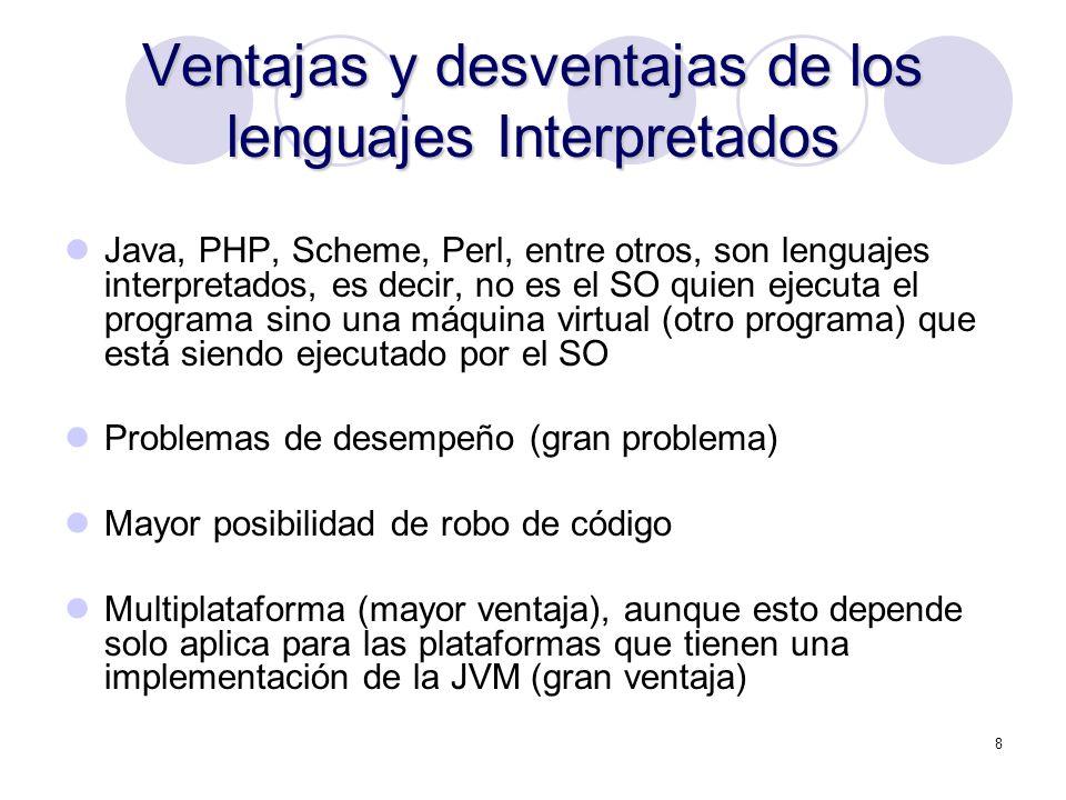 Ventajas y desventajas de los lenguajes Interpretados