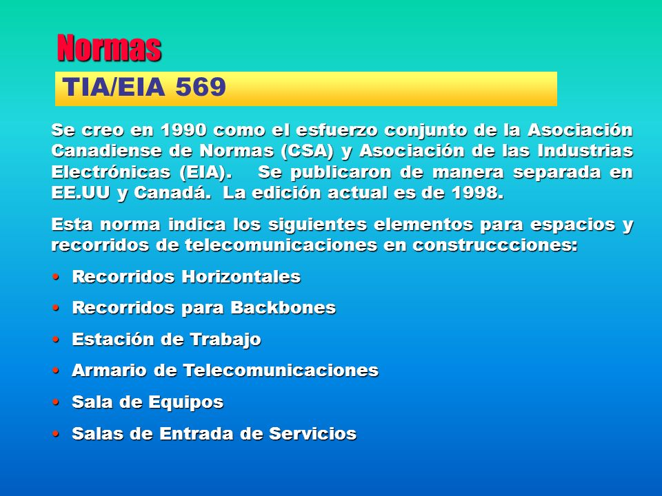 Normas TIA/EIA 569.